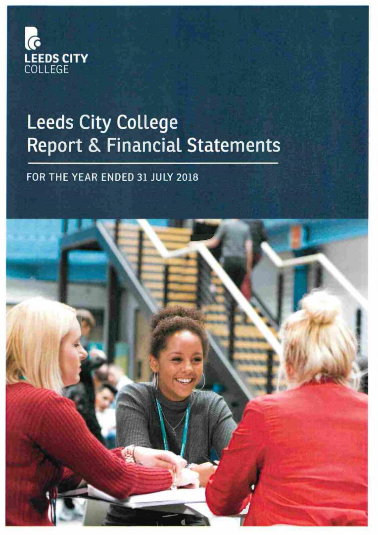 Leeds City College Report & Financial Statements 2017 – 2018 cover