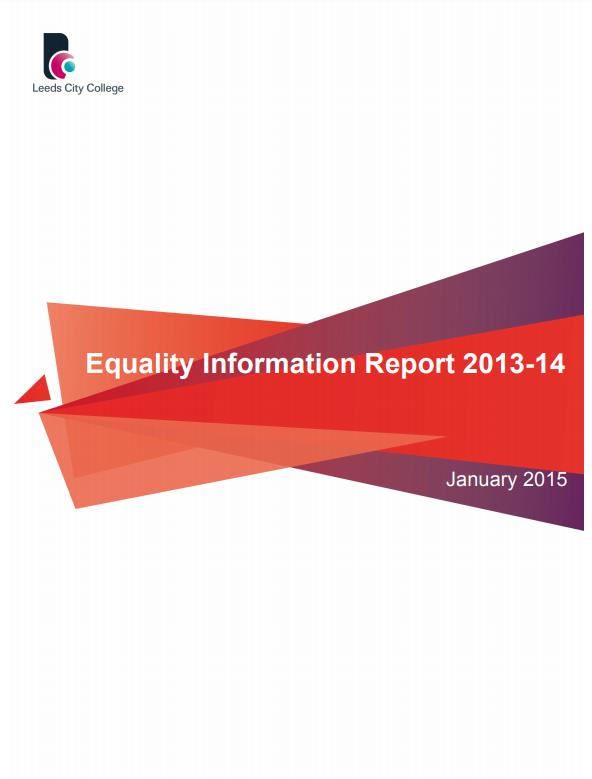 Equality Information Report 2013-14 cover