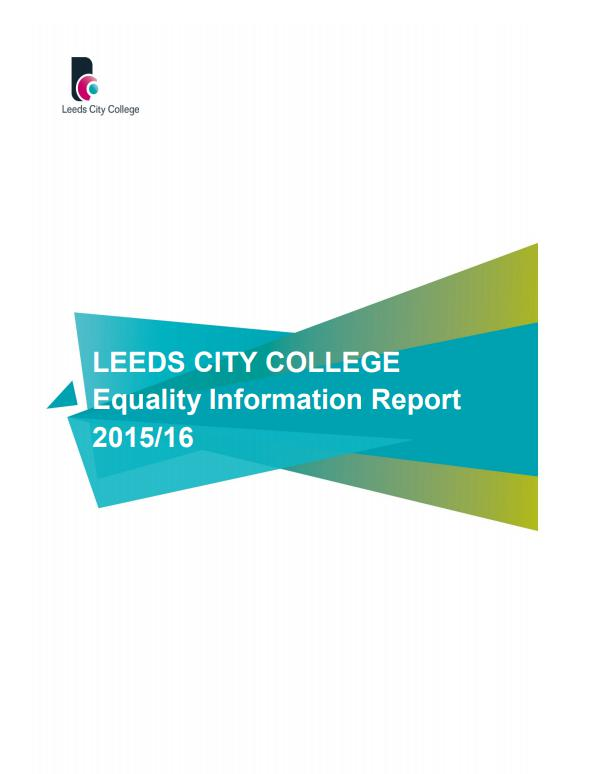 Equality Information Report 2015-16 cover