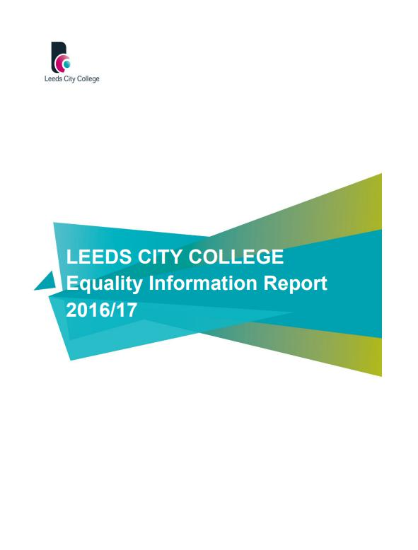 Equality Information Report 2016-17 cover