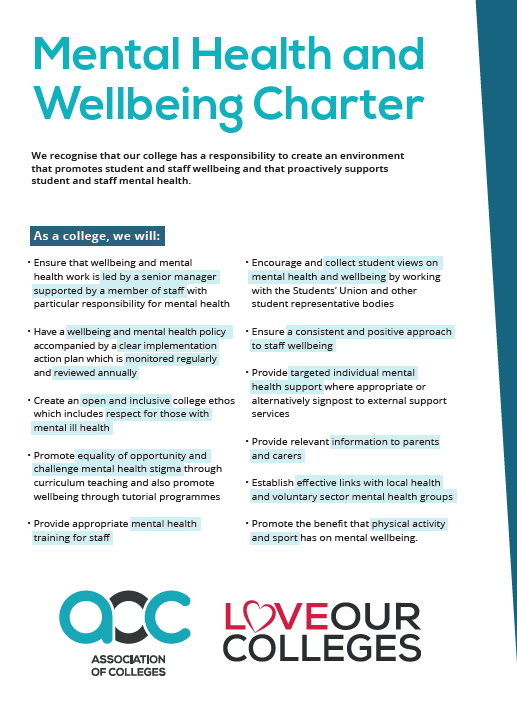 AoC Mental Health & Wellbeing Charter cover
