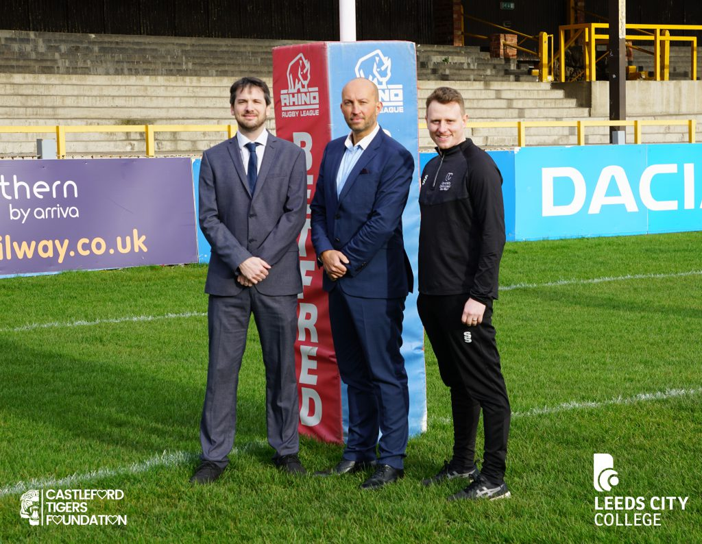 University Centre Leeds partners with leading rugby club Castleford Tigers