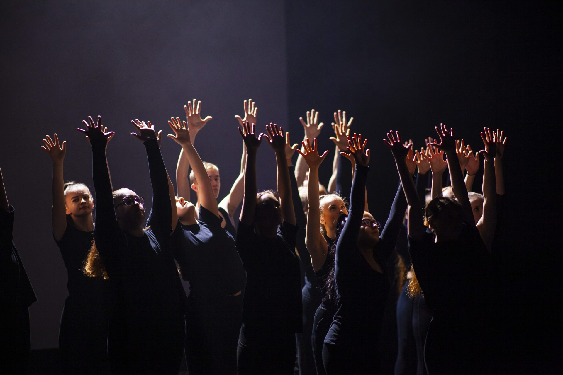 Leeds City College performing arts students