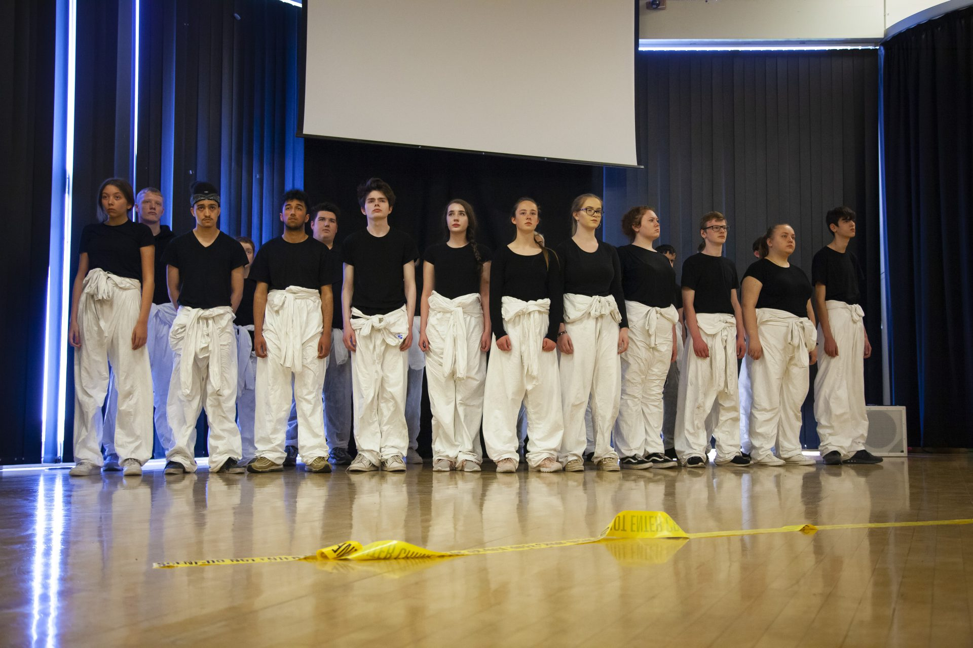 Students performing last year's 'Knife Crime' performance.
