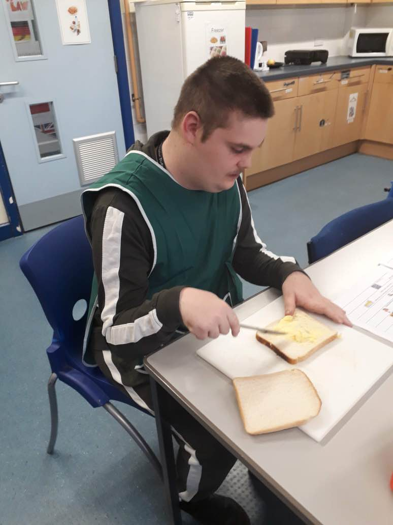 Foundation Studies student, Louis, studying Independent Living and Community.