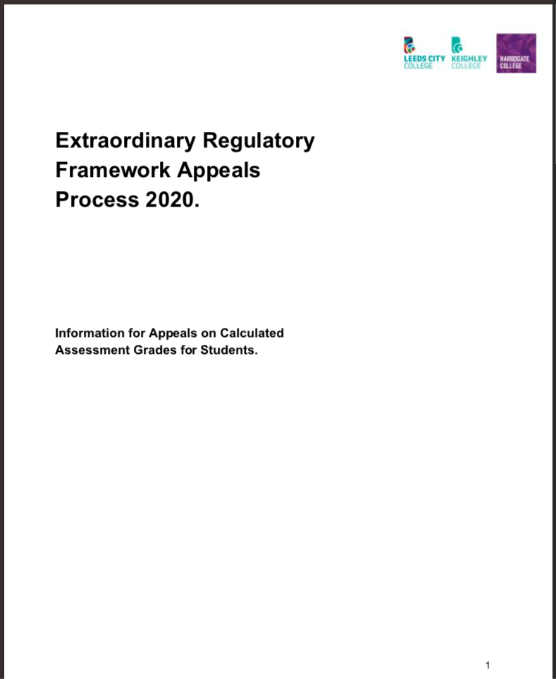 Covid-19 ERF Appeals Process 2020 cover