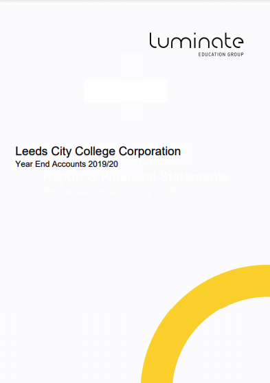 Leeds City College Annual Report and Financial Statement 2019/20 cover
