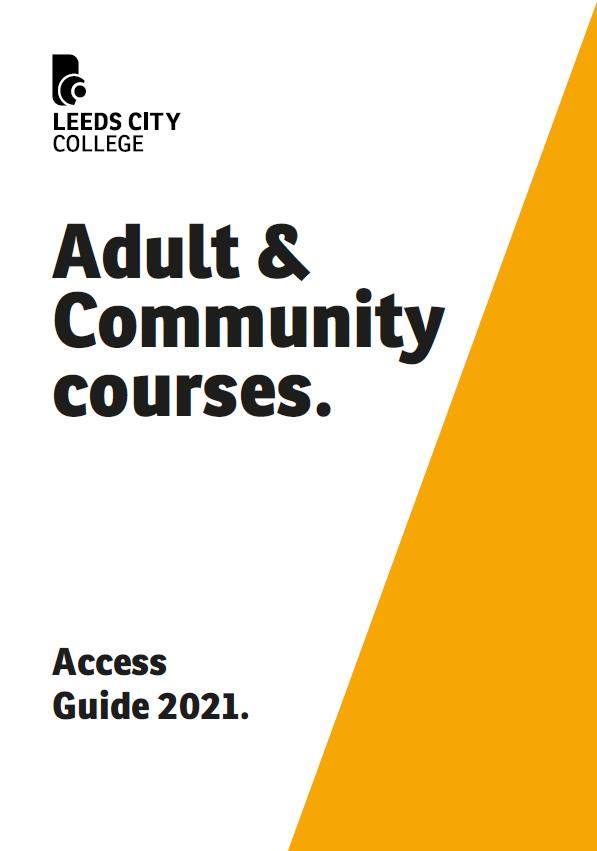LCC Adult Access  Prospectus cover