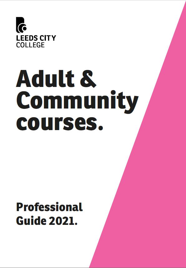 LCC Adult Professional Prospectus cover