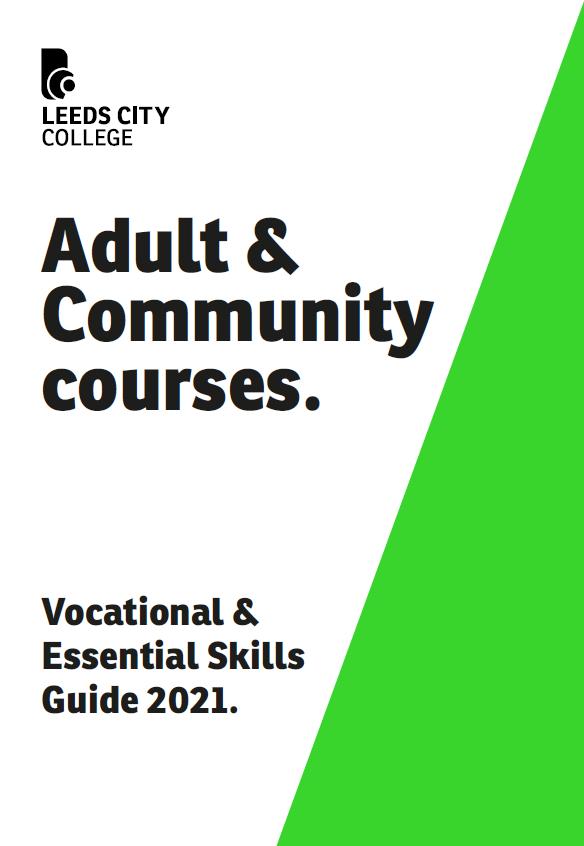 LCC Adult Vocational Prospectus cover